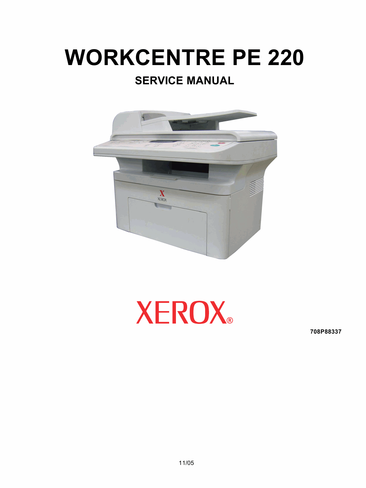 Xerox WorkCentre PE-220 Parts List and Service Manual-1